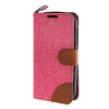 MOONCASE Alcatel One Touch POP C5 , Leather Flip Card Holder Pouch Stand Back ЧЕХОЛ ДЛЯ Alcatel One Touch POP C5 Hot pink mooncase alcatel one touch pop c5 leather flip card holder pouch stand back чехол для alcatel one touch pop c5 blue
