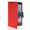 MOONCASE Classic cross pattern Leather Side Flip Wallet Card Pouch Stand Soft Shell Back чехол для LG G3 Red чехлы для телефонов kajsa чехол для lg g3 neon collection glow in the dark dot pattern folio case red