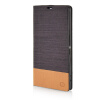 MOONCASE Canvas Design Leather Side Flip Wallet Pouch Stand Shell Back ЧЕХОЛ ДЛЯ Sony Xperia T3 Coffee sony xperia t3