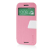 MOONCASE View Window Leather Side Flip Pouch Ultra Slim Shell Back ЧЕХОЛ ДЛЯ HTC One M8 Pink htc u ultra sapphire blue 64gb