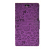 MOONCASE Cute Little Witch Leather Side Flip Wallet Card Holder Stand Pouch ЧЕХОЛДЛЯ Sony Xperia Z4 Compact (Mini) Purple