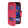 MOONCASE View Window Leather Side Flip Pouch Stand Shell Back ЧЕХОЛ ДЛЯ Samsung Galaxy Trend Lite S7390 / S7392 Hot pink mooncase soft silicone gel side flip pouch hard shell back чехол для samsung galaxy s6 black