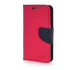 MOONCASE Cross pattern Leather Wallet Flip Stand Shell Back ЧЕХОЛДЛЯ Samsung Galaxy Core Prime G360 Hot pink