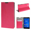 MOONCASE ЧЕХОЛ ДЛЯ Sony Xperia Z3 Compact ( Z3 Mini ) Leather Wallet Flip Card Holder Bracket Back Pouch Hot pink 01 mooncase sony xperia z3 compact z3 mini чехол для flip leather wallet card holder bracket back pouch red
