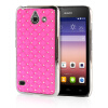 MOONCASE Hard Chrome Plated Star Bling Back ЧЕХОЛДЛЯ Huawei Ascend Y550 Pink диски helo he844 chrome plated r20