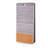 MOONCASE Canvas Design Leather Side Flip Wallet Pouch Stand Shell Back ЧЕХОЛДЛЯ Samsung Galaxy A7 Light Brown mooncase soft silicone gel side flip pouch hard shell back чехолдля samsung galaxy s6 black