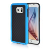 MOONCASE Soft Flexible Silicone Gel TPU Skin Shell Back ЧЕХОЛДЛЯ Samsung Galaxy S6 Blue embossed tpu gel shell for ipod touch 5 6 girl in red dress