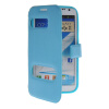 все цены на MOONCASE View Window Leather Side Flip Pouch Hard board Shell Back чехол для Samsung Galaxy Note 2 N7100 Blue