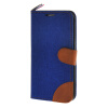 MOONCASE Galaxy S6 Edge , Leather Wallet Flip Card Holder Pouch Stand Back ЧЕХОЛ ДЛЯ Samsung Galaxy S6 Edge Dark blue wallet leather pouch for iphone 6s 6 samsung e5 htc m8 size 144 x 75mm blue bowknot