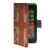 MOONCASE UK British Flag Leather Side Flip Wallet Card Slot Stand Pouch чехол для Nokia Lumia 630 suck uk