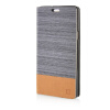 MOONCASE Canvas Design Leather Side Flip Wallet Pouch Stand Shell Back ЧЕХОЛ ДЛЯ Samsung Galaxy A7 Dark Brown mooncase soft silicone gel side flip pouch hard shell back чехол для samsung galaxy s6 grey