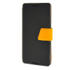 MOONCASE Xperia Z4  Leather Flip Bracket Back ЧЕХОЛ ДЛЯ Sony Xperia Z4 Black Yellow