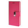 MOONCASE чехол для Sony Xperia E3 Flip Leather Wallet Card Slot Bracket Back Cover Hot pink mooncase чехол для asus zenfone 5 flip leather wallet card slot bracket back cover hot pink