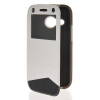 MOONCASE View Window Leather Side Flip Wallet Card Slot Pouch Stand Soft Shell чехол для Htc One Mini 2 ( M8 Mini ) White mooncase view window leather side flip pouch stand shell back чехолдля htc one 2 m8 sapphire