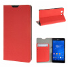 купить MOONCASE Sony Xperia Z3 Compact ( Z3 Mini ) ЧЕХОЛ ДЛЯ Flip Leather Wallet Card Holder Bracket Back Pouch Red недорого