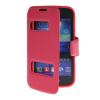 MOONCASE View Window Leather Side Flip Pouch Stand Shell Back ЧЕХОЛ ДЛЯ Samsung Galaxy Ace 3 S7270 / S7272 Hot pink чехол samsung flip wallet для galaxy j3 2016 черный ef wj320pbegru