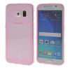 MOONCASE чехол для Samsung Galaxy S6 Flexible Soft Gel TPU Silicone Skin Slim Durable With Card Slot Cover Pink ultra slim clear phone cases for samsung galaxy s6