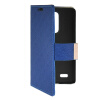 MOONCASE Slim Leather Side Flip Wallet Card Slot Pouch with Kickstand Shell Back чехол для LG L Bello D331 / D335 Blue mooncase slim leather side flip wallet card slot pouch with kickstand shell back чехол для samsung galaxy a7 beige