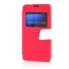 MOONCASE View Window Leather Side Flip Pouch Ultra Slim Shell Back ЧЕХОЛ ДЛЯ Sony Xperia Z1 Compact (Z1 Mini ) Hot pink