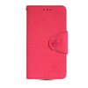 MOONCASE Classic cross pattern Leather Side Flip Slot Pouch Stand Shell Back ЧЕХОЛДЛЯ Samsung Galaxy S5 Mini Hot pink