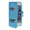 MOONCASE View Window Leather Side Flip Pouch Hard board Shell Back чехол для Apple iPhone 5 / 5S Blue for iphone 7 translucent view window hard protector cover baby blue