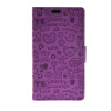 MOONCASE Cute Little Witch Leather Side Flip Wallet Card Holder Stand Pouch ЧЕХОЛ ДЛЯ Sony Xperia E4 Purple гарнитура a4tech hs 28 silver black