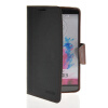 MOONCASE Classic cross pattern Leather Side Flip Wallet Card Pouch Stand Soft Shell Back чехол для LG G3 Black Brown