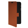 MOONCASE Slim Leather Flip Wallet Card Pouch with Kickstand Shell Back ЧЕХОЛДЛЯ Samsung Galaxy Tab Q T2558 Brown mooncase slim leather side flip wallet card slot pouch with kickstand shell back чехол для samsung galaxy a3 brown