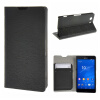 MOONCASE Sony Xperia Z3 Compact ( Z3 Mini ) ЧЕХОЛ ДЛЯ Flip Leather Wallet Card Holder Bracket Back Pouch Black смартфон bq s 5020 strike black