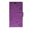 MOONCASE Cute Little Witch Leather Side Flip Wallet Card Holder Stand Pouch ЧЕХОЛ ДЛЯ Sony Xperia Z4 Purple