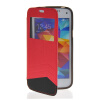 MOONCASE View Window Leather Side Flip Wallet Card Slot Pouch Stand Soft Shell Back чехол для Samsung Galaxy S5 Mini Red mooncase flip wallet soft gel tpu silicone back shell чехолдля samsung galaxy s5 i9600 red