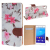 MOONCASE Sony Xperia M4 ЧЕХОЛ ДЛЯ Flower Style Leather Flip Wallet Card Slot Bracket Back White mooncase чехол для sony xperia m4 aqua wallet card slot with kickstand flip leather back hot pink