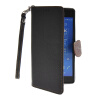 MOONCASE Litch Skin Leather Side Flip Wallet Card Slot Pouch Stand Shell Back ЧЕХОЛ ДЛЯ Sony Xperia Z3 Black