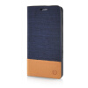 MOONCASE Canvas Design Leather Side Flip Wallet Pouch Stand Shell Back ЧЕХОЛ ДЛЯ Samsung Galaxy A3 Dark Blue mooncase soft silicone gel side flip pouch hard shell back чехол для samsung galaxy s6 black