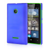 MOONCASE Hard Rubberized Rubber Coating Devise Back ЧЕХОЛ ДЛЯ Nokia Lumia 532 Blue