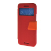 MOONCASE Ultra Slim Leather Side Flip Wallet Stand Pouch ЧЕХОЛ ДЛЯ HTC One M9 Red встраиваемая акустика speakercraft profile accufit ultra slim one single asm53101 2