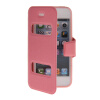 MOONCASE View Window Leather Side Flip Pouch Hard board Shell Back чехол для Apple iPhone 5 / 5S Pink