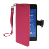 MOONCASE Litch Skin Leather Side Flip Wallet Card Slot Pouch Stand Shell Back ЧЕХОЛДЛЯ Sony Xperia Z3 Hot pink mooncase classic cross pattern leather side flip wallet card pouch stand soft shell back чехол для sony xperia e1 hot pink