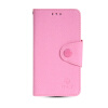 MOONCASE Classic cross pattern Leather Side Flip Card Slot Pouch Stand Shell Back ЧЕХОЛДЛЯ Samsung Galaxy S5 Mini Pink