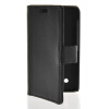 MOONCASE Slim Leather Side Flip Wallet Card Slot Pouch Stand Back чехол для Nokia Lumia 530 Black mooncase smooth skin leather bottom flip pouch чехол для nokia lumia 730 white