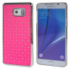 MOONCASE Samsung Galaxy Note 5 ЧЕХОЛ ДЛЯ Bling Chrome Hard Back Pink mooncase hard chrome plated star bling back чехол для samsung galaxy a3 green