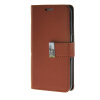 MOONCASE Synthetic PU Leather чехол для Wallet Flip Card Slot Holster Pouch Stand Samsung Galaxy S6 Brown mooncase samsung galaxy s6 edge plus чехолдля hard plastic design flip pouch brown