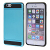 MOONCASE ЧЕХОЛ ДЛЯ iPhone 6 / 6S (4.7) Soft Silicone Gel TPU Skin With Card Holder Protective Blue чехол для iphone interstep для iphone x soft t metal adv красный
