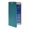 MOONCASE Slim Leather Side Flip Wallet Card Slot Pouch with Kickstand Shell Back чехол для Huawei Honor 6X Blue mooncase чехол для huawei ascend p8 wallet card slot with kickstand flip leather back white