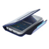 MOONCASE Wrist Strap Multi Purpose Flip Leather Wallet Card Pouch Back чехол для Samsung Galaxy S6 Edge Blue mooncase litchi skin золото chrome hard back чехол для cover samsung galaxy s6 edge красный