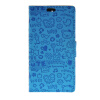 MOONCASE Cute Little Witch Leather Side Flip Wallet Card Holder Stand Pouch ЧЕХОЛДЛЯ Huawei Ascend Y625 Blue