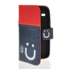 MOONCASE Leather Side Flip Wallet Card Slot Pouch Stand Shell Back ЧЕХОЛ ДЛЯ Samsung Galaxy Core I8260 I8262 Red Blue mooncase soft silicone gel side flip pouch hard shell back чехол для samsung galaxy s6 grey