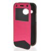 MOONCASE Window Leather Side Flip Wallet Card Slot Pouch Stand Soft Shell чехол для Htc One Mini 2 ( M8 Mini ) Hot pink hot sales high quality hand riveter pull rivet nut riveting tools with one m8 die free shipping bt 606
