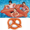 MyMei  Inflatable Swim Ring Fun Bite Shape Donut Swimming Pool Water Float Raft YW commercial sea inflatable blue water slide with pool and arch for kids