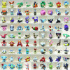 MyMei Cute Funny Lots of 100pcs Pokemon 4-6cm Action Figure Different Random Sending mymei pokemon go pikach wristband silicone bracelet party gifts bangle cute fashion